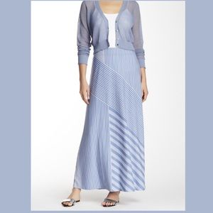 Tommy Bahama Lucca lines skirt billowy blue NWT